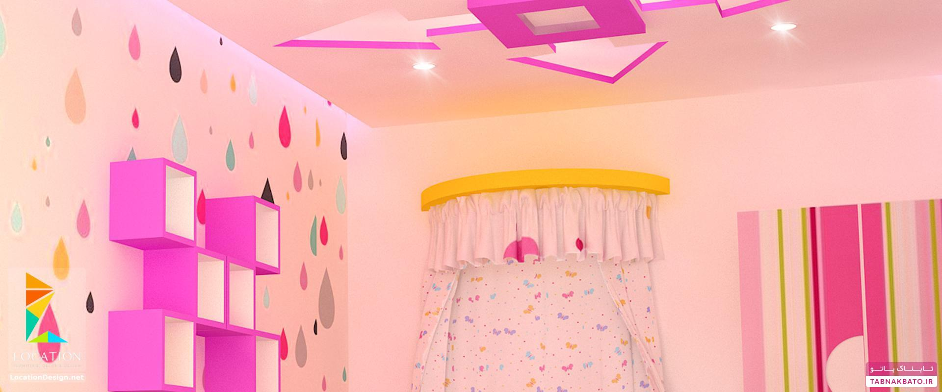 تزیینات جالب و دیدنی سقف اتاق کودک
