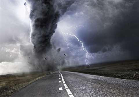 تصاویری از یک گردباد وحشتناک