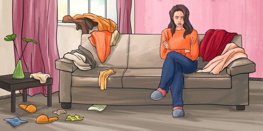 بی نظمی و آشفتگی خانه تان از مشکلات درونی شما خبر می دهد