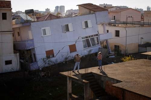 تصویری عجیب از زلزله آلبانی