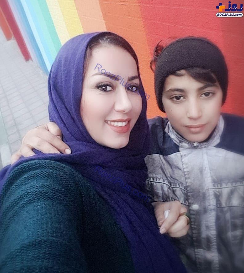 عکس صمیمانه خانم مجری با کودک کار