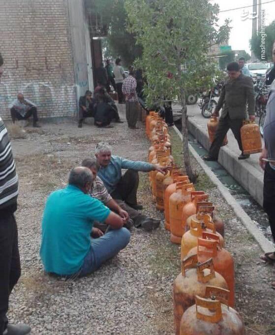 صفهای طولانی گاز به بوشهر رسید+عکس