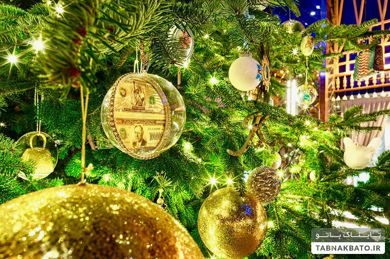 گرانترین درخت کریسمس جهان چگونه تزیین شده است؟