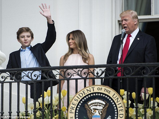 استیضاح ترامپ برای پسر ۱۳ ساله اش دردسر ساز شد