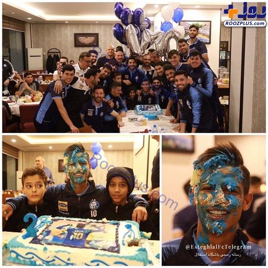 جشن تولد مهاجم گلزن در اردوی تیم پایتخت+عکس