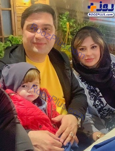 نیوشا ضیغمی در کنار همسر و دخترش +عکس