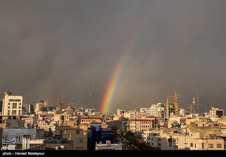رنگین کمان تهران +عکس