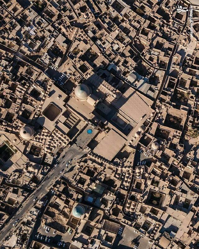 تصویر هوایی زیبا از یزد