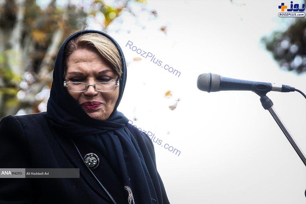 سیمین غانم در مراسم تشییع تورج شعبانخانی+عکس