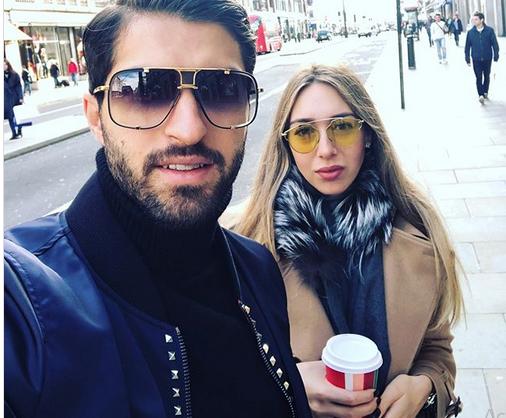 کریم انصاری فرد و همسر یونانی اش +عکس