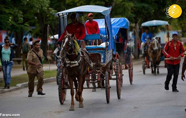 کمبود سوخت در کوبا؛ مردم اسبسوار شدند