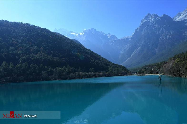 دره ماه آبی چین +عکس