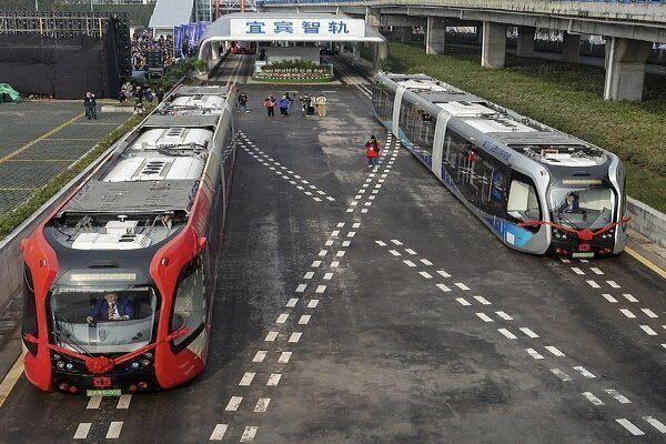 قطار خودران چینی روی ریل مجازی حرکت کرد + عکس