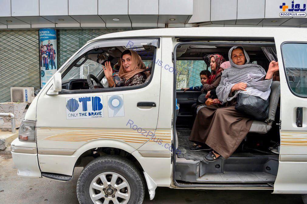 تاکسی وَن ویژه زنان در افغانستان+عکس