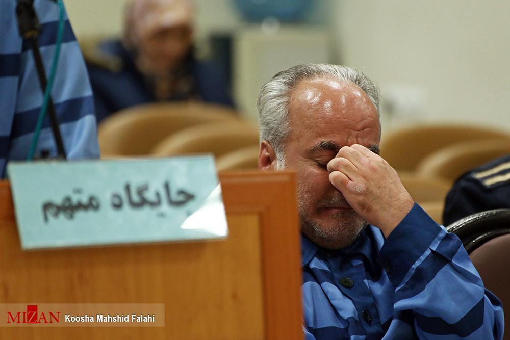 اشک های متهم اخلال ارزی + عکس