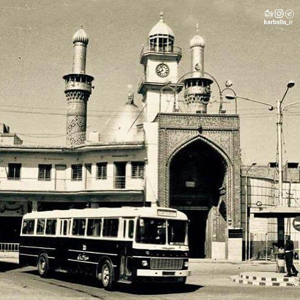 تصویر قدیمی از ورودی بابالقبله حرم حضرت عباس (ع)