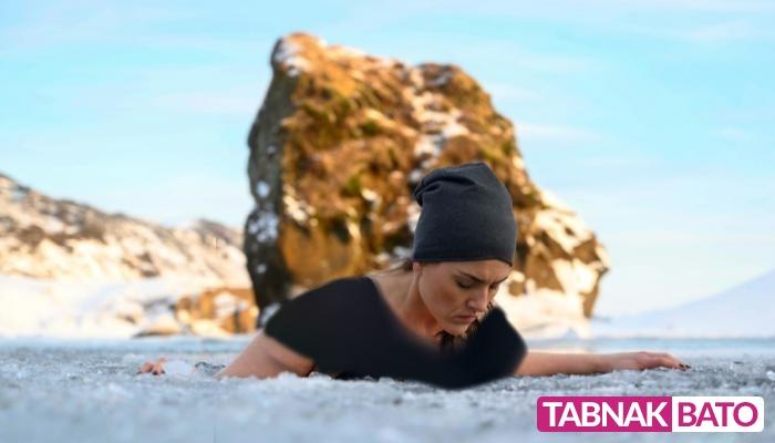 حمام یخ در آیسلند، درمانوشگفت انگیز با سرما