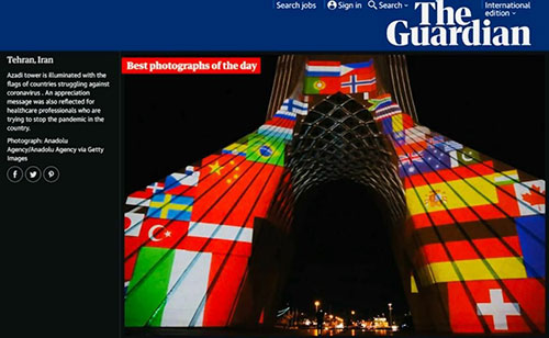 ویدئو مپینگ شهرداری تهران، عکس روز گاردین شد