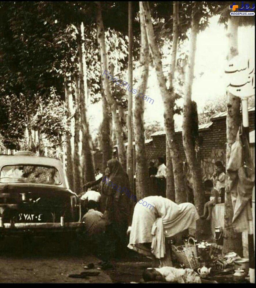 تصویری تاریخی از سیزده بدر مردم تهران در دهه ۴۰