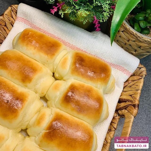 طرز تهیه و آموزش نان رول صبحانه و عصرانه