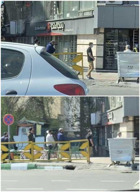 کرونا؛ صف عابربانک در یکی از مناطق تهران
