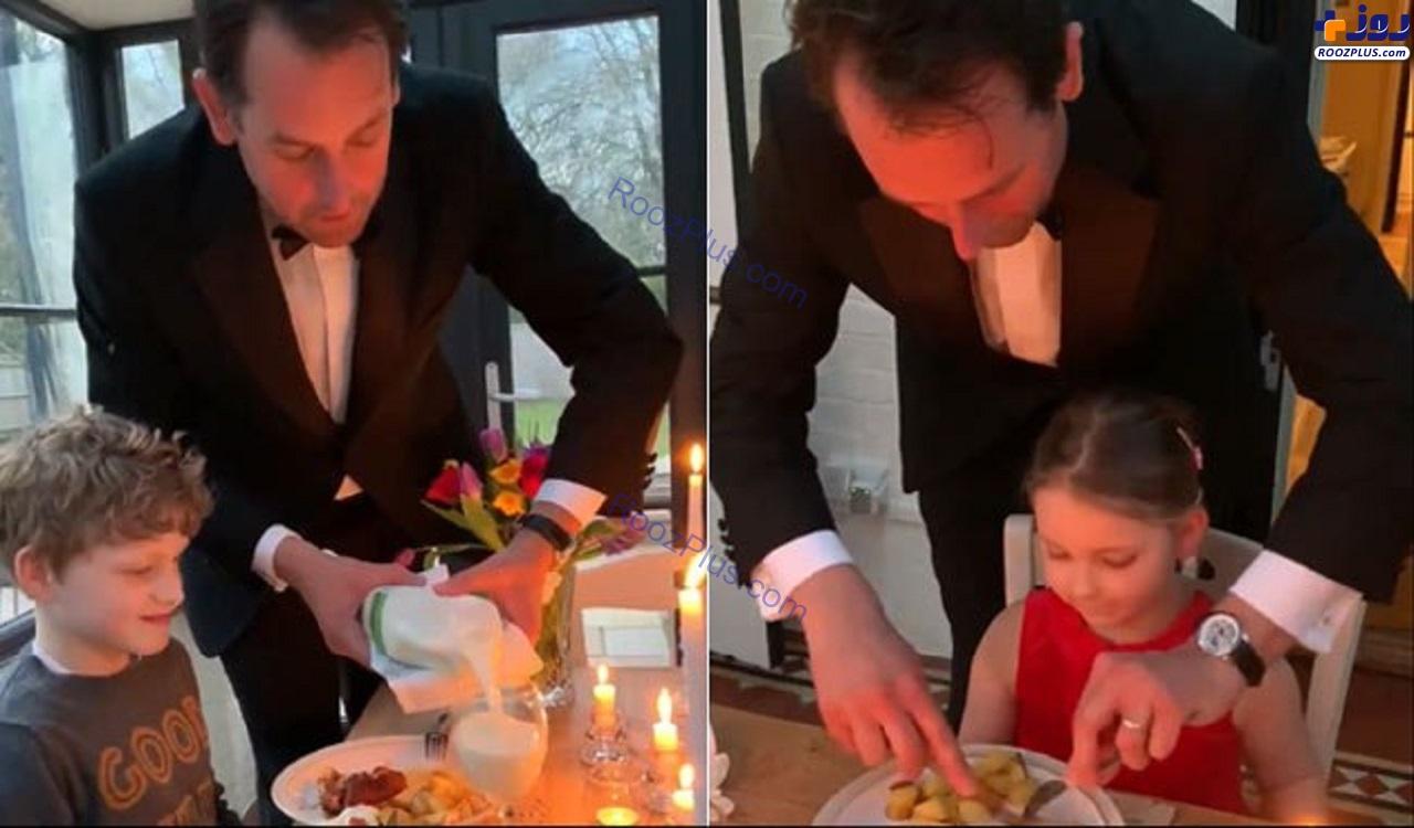 ابتکار جالب برای برگزاری جشن تولد در قرنطینه خانگی +عکس