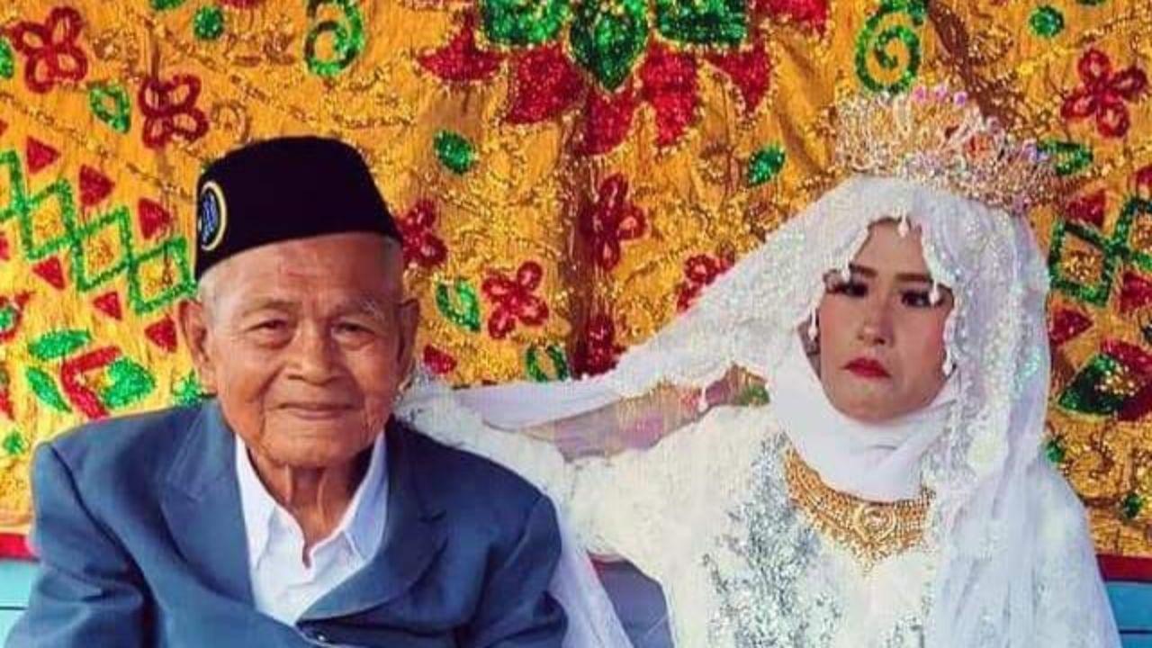 ازدواج پیرمرد ۱۰۳ساله با دختر ۲۷ ساله+عکس