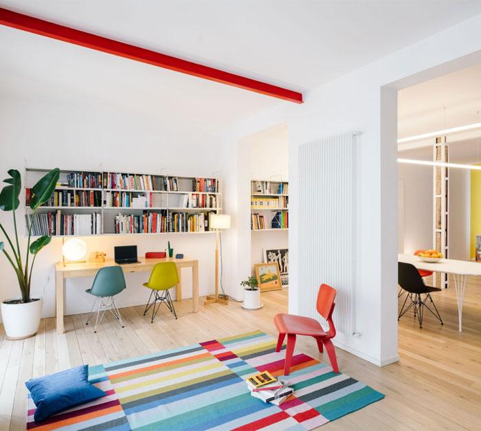 رنگ ها و عملکرد در دکوراسیون آپارتمانی ۱۲۴ متری