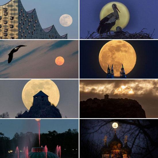 رخداد اولین پدیده «اَبَر ماه صورتی» در سال ۲۰۲۰ +عکس