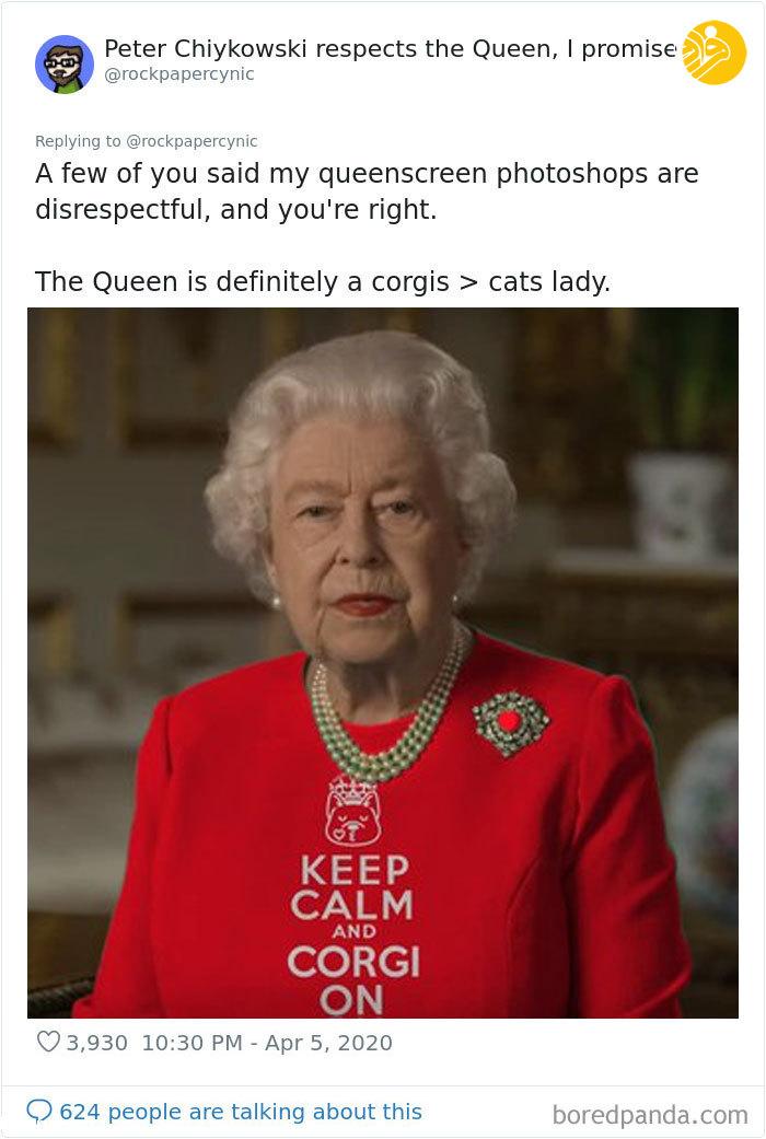 شوخی با لباس ملکه انگلیس!