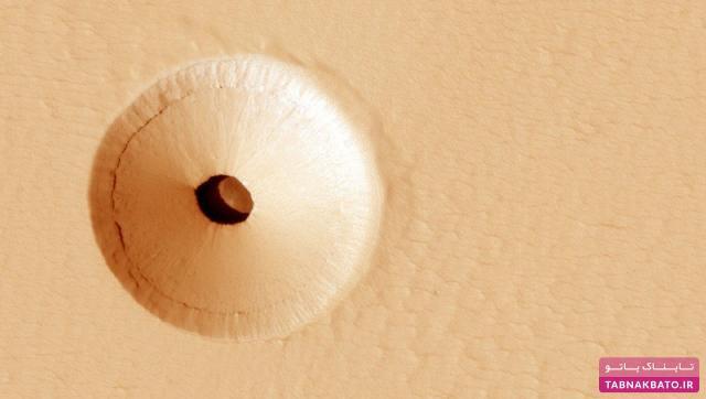 حفرهای در مریخ که نشانههای حیات در آن وجود دارد