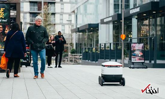 رباتها مسئول توزیع غذا در انگلستان شدند