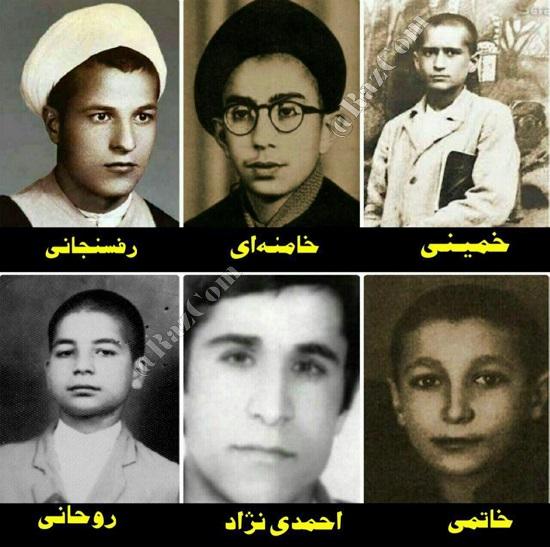 تصویر نوجوانی امام خمینی و ۵ رئیسجمهور ایران
