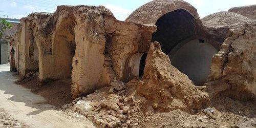 بافت تاریخی کرمان زیر آب