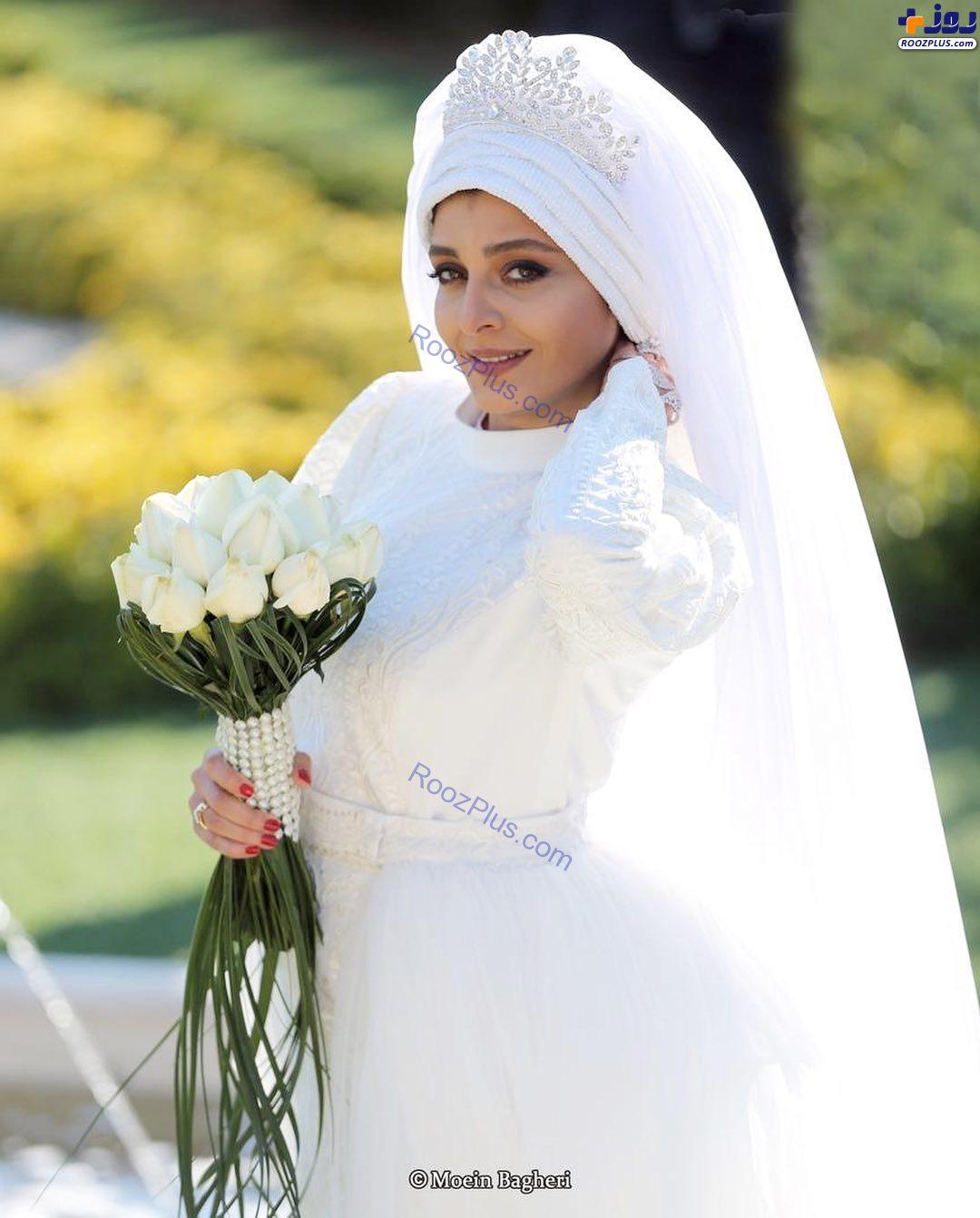 ساره بیات با لباس عروس در سریال «دل»+عکس