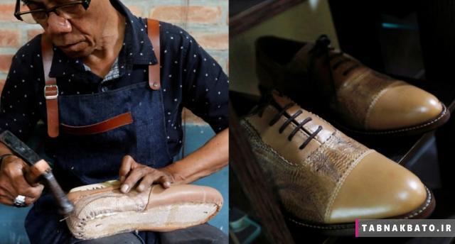 ساخت کفش از مادهای عجیب در اندونزی