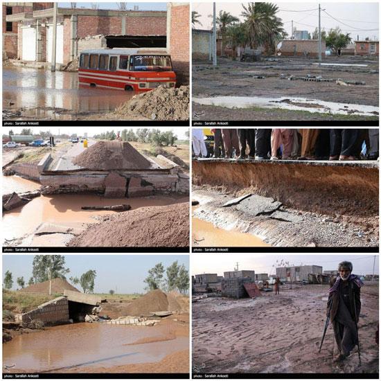 خسارات سیلاب در جنوب استان کرمان+عکس