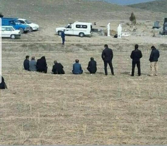 تصویری از دفن یک قربانی مبتلا به کرونا