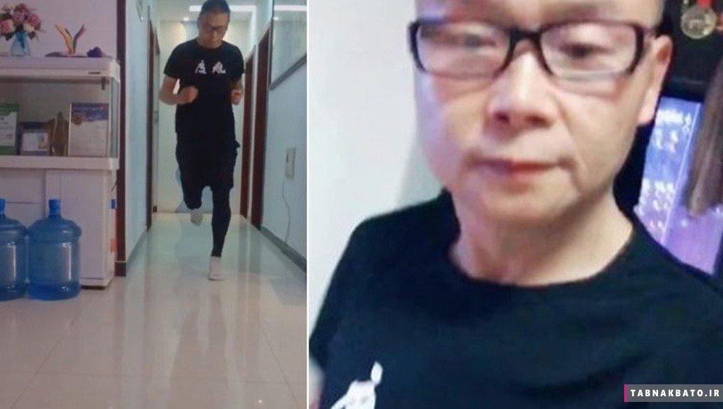 ورزشکار چینی هر روز در اتاق قرنطینهاش چند کیلومتر میدود!