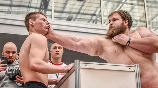 مسابقات قهرمانی سیلی زدن در روسیه!