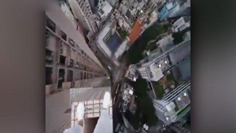 اقدام خوفناک و دیوانه وار روی لبههای دیوار آسمان خراش