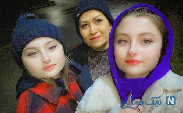 سارا و نیکا در کنار مادرشان+عکس
