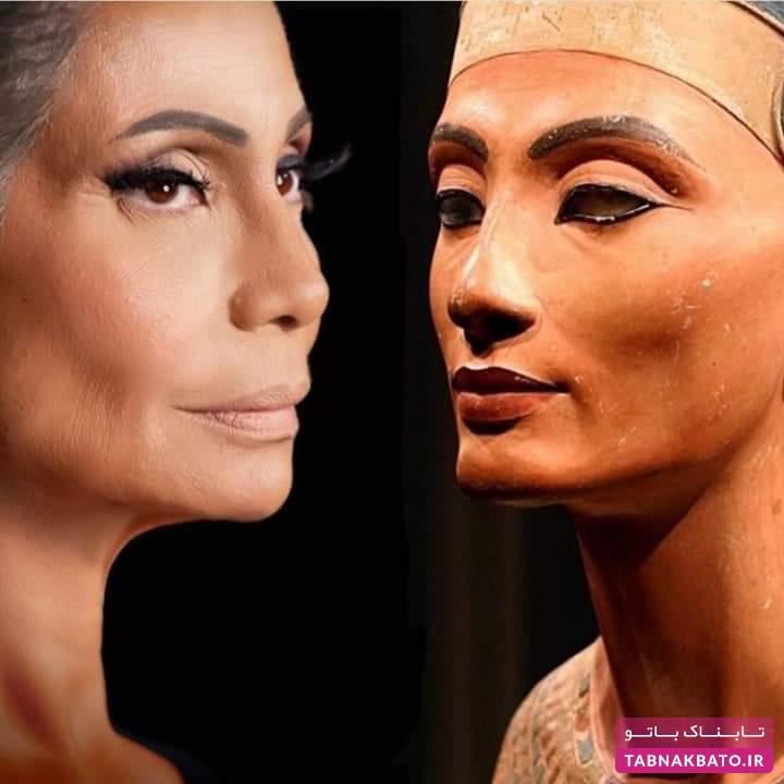 شباهت جالب بازیگر معروف به ملکه جذاب مصر باستان