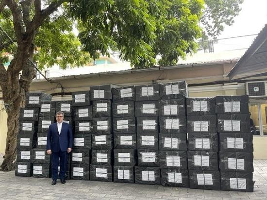 هدیه ویتنام به ایران برای مقابله با کرونا+عکس