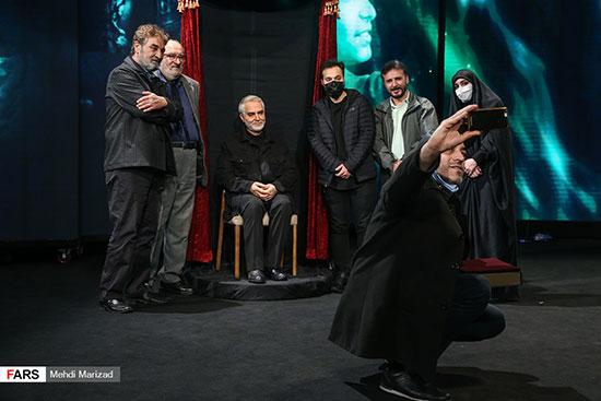 حضور هنرمندان در آئین رونمایی از تندیس سردار