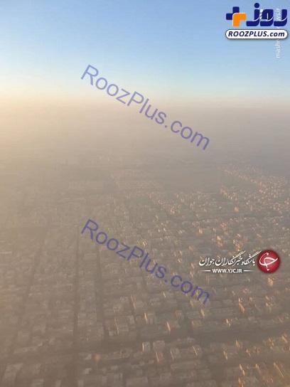 چتر آلودگی بر سر تهران+عکس