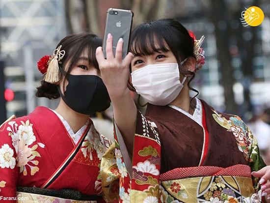 دختران ژاپنی در جشن رسیدن به سن قانونی+عکس