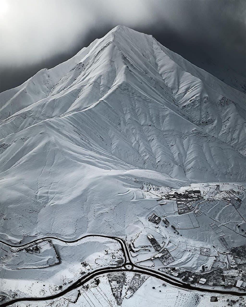 نمایی زیبا از ارتفاعات البرز مرکزی