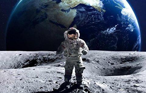 لحظه شگفت انگیز طلوع زمین در سطح ماه