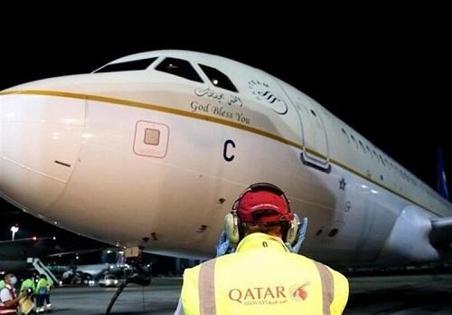 ورود اولین هواپیمای سعودی به قطر پس از ۳سال